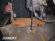 Employment of the clamp in joinery